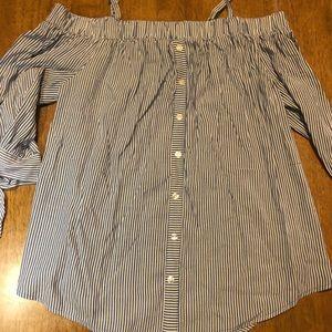 Off shoulder striped shirt (worn once)